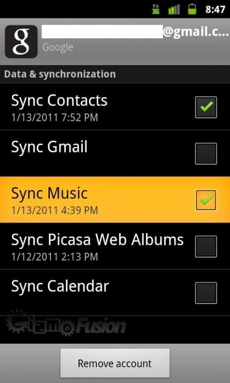 Music Sync Toggle