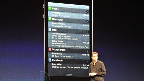 iOS Notification Center