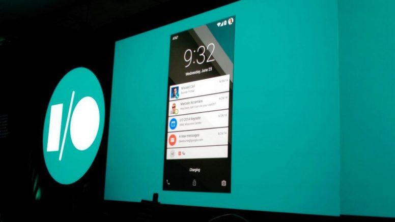 Android L at Google I/O 2014 Keynote