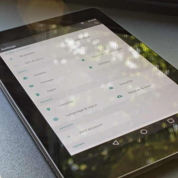 Android L Settings On Nexus 7 (2012)