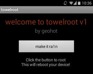 Screenshot Of Towelroot