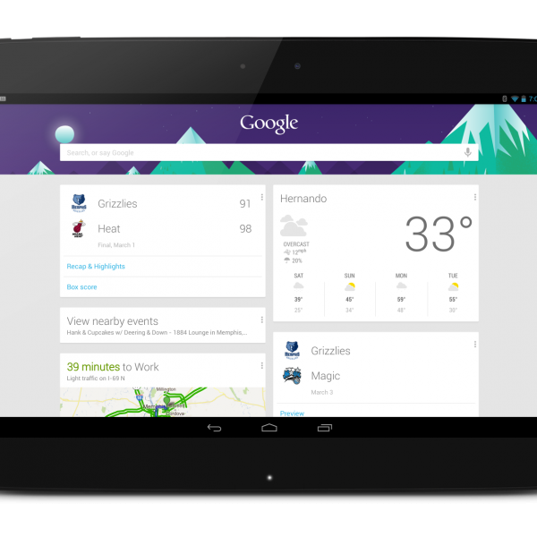 Nexus 10 Google Now