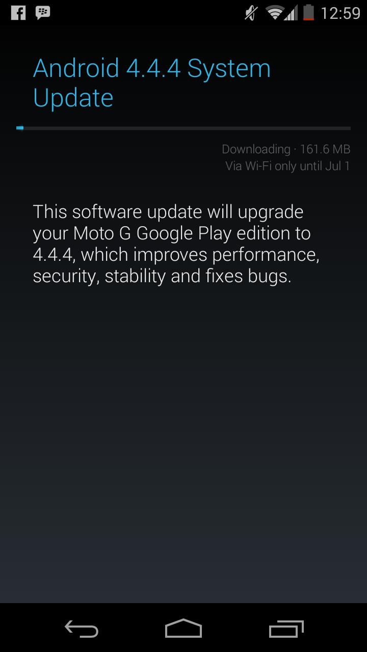 Moto G GPE 4.4.4 OTA