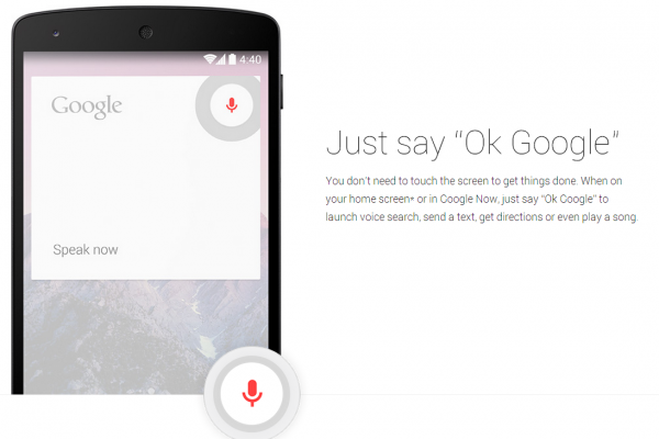 "Just say ""Ok Google"""