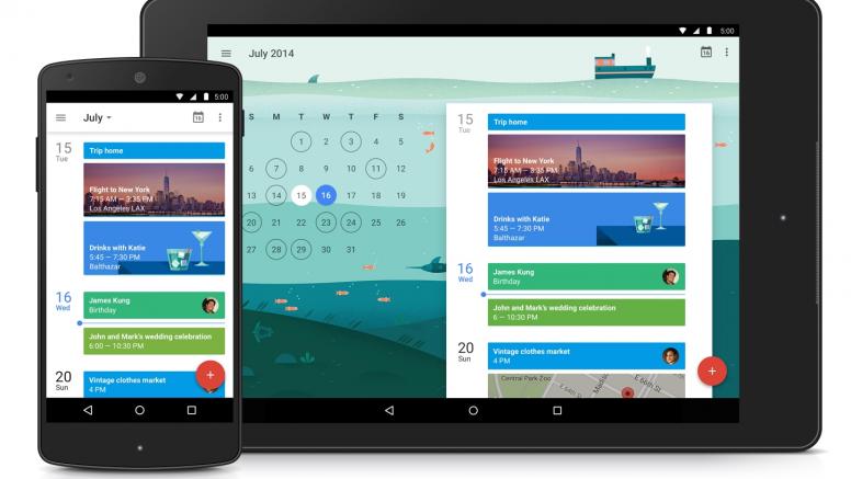 Google Calendar Material Design Update