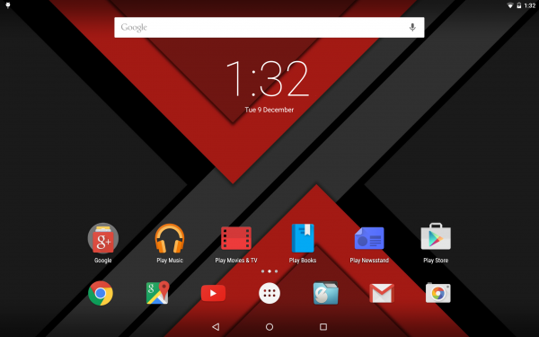 Nexus 10 Translucent System Bars