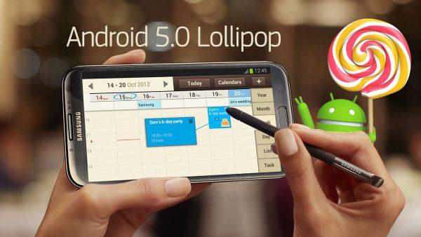 Galaxy Note 2 Lollipop Update