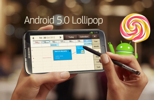 Galaxy Note 2 Lollipop Update