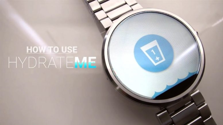 """Keep Hydrated With """"Wear Hydrate Me"""" For Your Smartwatch"""