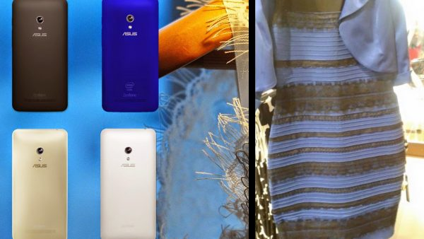 White and gold, or blue and black?