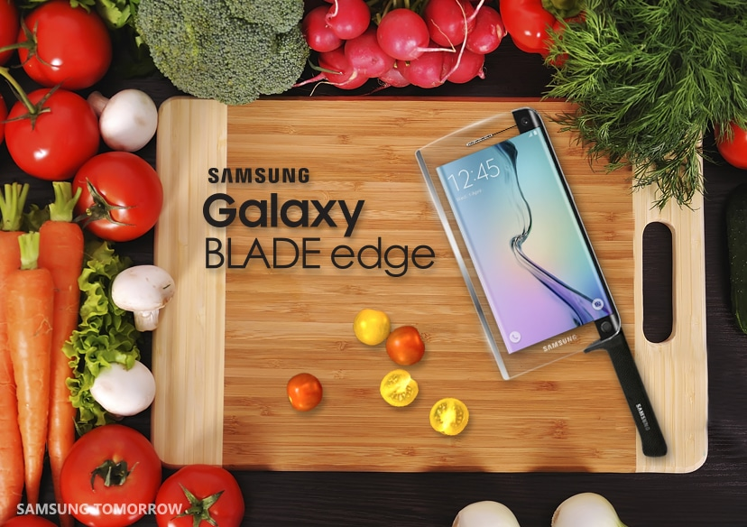 "Samsung Shows A Sharp Sense Of Humour With Their New ""Galaxy Blade Edge"""