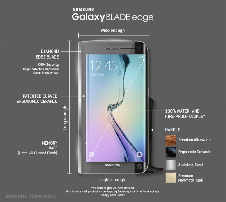 Galaxy Blade Edge Physical Spec