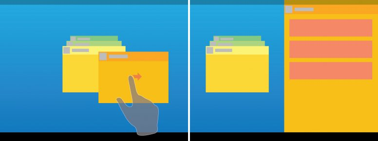 Android multiwindow mockup