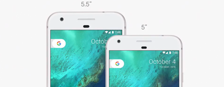 Google Pixel & Pixel XL Display Sizing