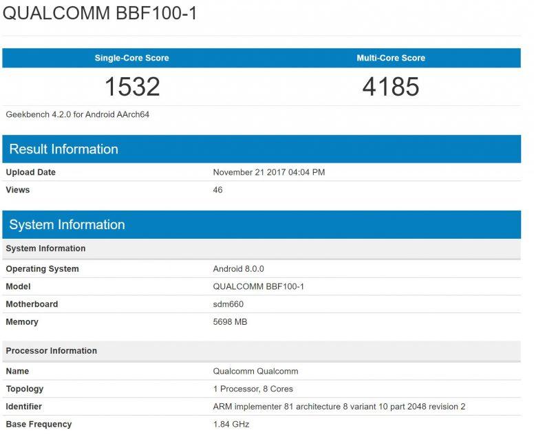 BBF100-01 Geekbench