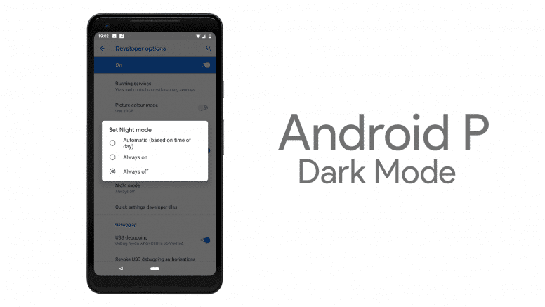 Android P Dark Mode